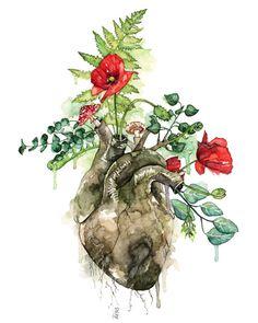 Dit is een fine art giclée print gemaakt van mijn originele aquarel schilderij Begroeid [een Sylvan hart].  Voor mensen met een hart voor het bos.  PAPIEROPTIES (1) ARCTIC mat - een fundamentele mat papier, met een vlotte, vlakke ondergrond. Dit papier is zuurvrij. (Helder wit /
