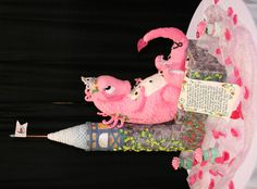 """Cute Pink Dragon Cake from """"That Takes the Cake"""" contest in Austin, TX Feb 26, 2012"""