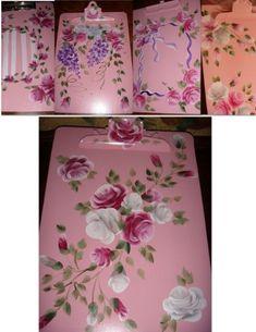 custom_hand_painted_designed_legal_9_x15_clipboard_roses_shabby_086ded7f.jpg 386×500 pixels