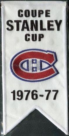 2008/09 Upper Deck Montreal Canadiens Mini Banners 1976-77 Stanley Cup Kings Hockey, Hockey Mom, Hockey Girls, Ice Hockey, Montreal Canadiens, Chicago Blackhawks, Chicago Cubs Logo, Ranger Sport, Tyler Seguin