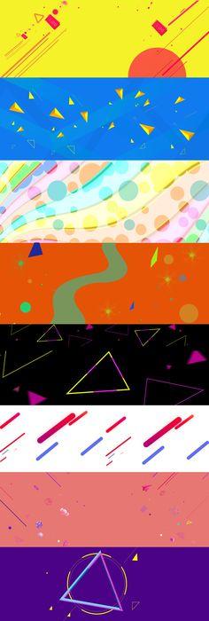 淘宝全屏背景几何图形线性图形
