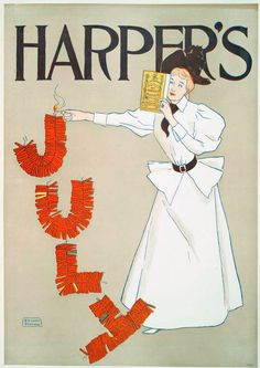 Edward Penfield, Harper's July, 1894 (via). A magazine cover from when Annie was traveling the world.