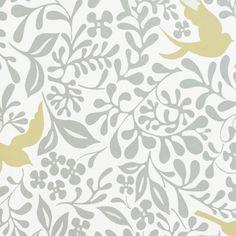Sanderson Home Papavera Wallpapers Larksong Wallpaper - Dove/Honey - 214761