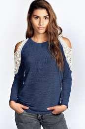 Charlie Crochet Shoulder Jumper alternative image