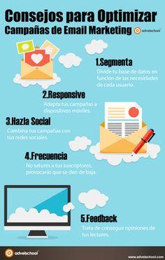 Consejos para optimizar campañas de Email Marketing #infografia #infographic #marketing
