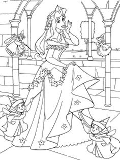 sleeping beauty coloring pages | Print Disney Princess Sleeping Beauty Aurora Colouring Sheets Free For ...