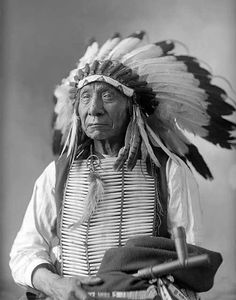 """Red Cloud """"I am poor and naked, but I am the chief of the nation. We do not want riches but we do want to train our children right. Riches would do us no good. We could not take them with us to the other world. We do not want riches. We want peace and love."""" (via DARINGLY ORGANIC)"""
