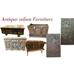 Antique Indian Furniture by mogulinteriordesigns on Polyvore featuring interior, interiors, interior design, home, home decor, interior decorating and rustic