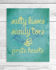 Salty Kisses and Sandy Toes Nautical Art by SmartyPantsStudio