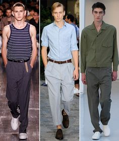 fall 2015 trend for men's pants, the pleats are back!