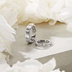 David Yurman wedding bands for him and her.