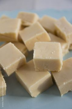 Classic Vanilla Fudge (Feeling Foodish). Made with corn syrup to prevent crystallization.
