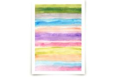 painted abstract by aticnomar at minted.com