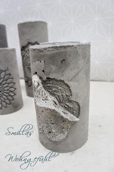 DIY: concrete candle holder / cement candle holder - All For Decoration Cement Art, Concrete Cement, Concrete Furniture, Concrete Design, Plaster Crafts, Concrete Crafts, Concrete Projects, Concrete Candle Holders, Papercrete