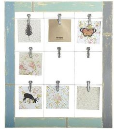 This vintage window frame is actually a photo holder with a weathered finish to bring rustic charm to your home. Fasten the wooden frame to a wall and personalize with photos of your family and friends. We call it vintage wow. Wire Picture Frames, Picture Frame Sizes, Picture Wall, Photo Wall, Picture Holders, Photo Holders, Collage Frames, Frames On Wall, Window Clips