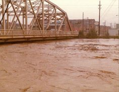 """Johnstown Flood, 1977. Grams n my grandfather were visiting """"home"""" in New Florence, PA when this one happened...got to see a lot of the flooding and devastation.."""