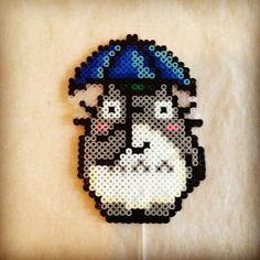 Totoro hama beads by emma_bittersweet
