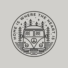 #graphicdesign #design #illustration #art #artwork #drawing #handdrawn #travel #explore #outdoors #nature #camping #campervan #slowroastedco