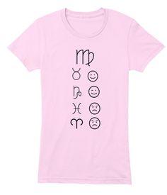 Virgo Love Tees Light Light Pink T-Shirt Front