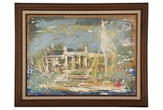Winter Sail on OneKingsLane.com. Original vintage art from Anna Hackathorn Interior Design.