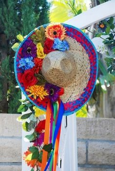 Sombrero Wedding Decor / http://www.himisspuff.com/colorful-mexican-festive-wedding-ideas/9/