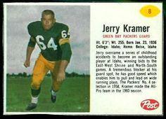 Jerry Kramer - 1962 Post Football