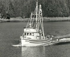 """My Dad's seine boat, the f/v """"Joycelyn"""". It was a beautiful boat which Dad kept up and looking really great. Unfortunately, it rolled over and sank in Warren Channel in SE Alaska some years ago, so the boat lives on only in our memories."""