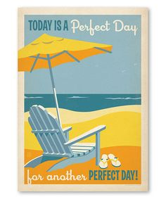 Love this 'Today is a Perfect Day' Wall Art on #zulily! #zulilyfinds