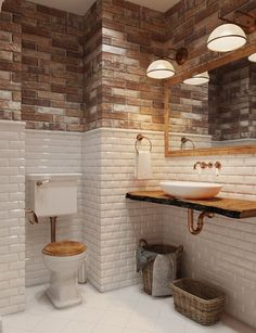 Two tone walls combine really nicely in this beautiful metropolitan bathroom design.