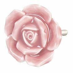 Clayre & Eef Clayre & Eef deurknopje bloem roos donkerroze