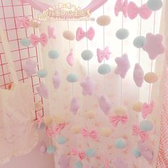 Japanese soft sister cute girl heart star bow decorative curtains bedroom children Princess Room curtain hangs - Taobao