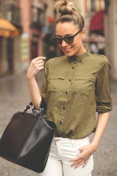 awesome military shirt street style photo form myshowroomblog fashion blog
