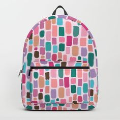 Buy Smudge Backpack by carlywatts. Worldwide shipping available at Society6.com. Just one of millions of high quality products available. #society6 #shopping #backpack #illustration