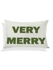 Very Merry Reversible Pillow by Pillow Talk at Gilt