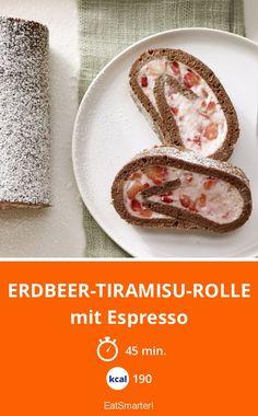 Erdbeer-Tiramisu-Rolle - mit Espresso - smarter - Kalorien: 190 Kcal - Zeit: 45 Min. | eatsmarter.de
