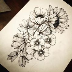 Flowers for my hip tattoo! #FlowerTattooDesigns