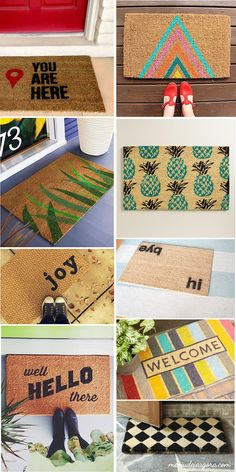 Apartment diy ideas door mats 61 ideas for 2019 Diy Carpet, Diy Décoration, Diy Room Decor, Home Decor, Decoration, Diy Gifts, Diy And Crafts, Diy Projects, Crafty