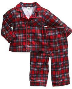 Little Me Baby Pajamas, Baby Boys 2-Piece Plaid PJs - Kids - Macy's