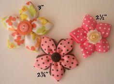 ribbon flowers - hair bows for Teagan?
