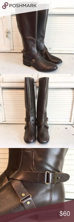 NWOT Nine West Blogger Boots - Brown New, never worn. Genuine leather. Nine West Shoes Heeled Boots