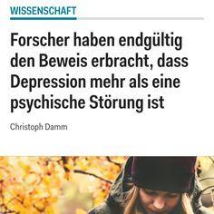 Es geht bei den Forschungen auch darum, welche weiteren Auswirkungen — auch körperliche — Depressionen auf die Patienten haben.