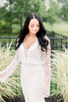 Real bride Sunny wears Halsey by Laudae from Sash & Bustle - Slit Wedding Dress, Wedding Gowns, Wedding Day, Halsey, Bustle, Sash, Sunnies, Brides, White Dress