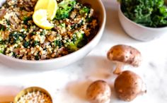 Veg Head Couscous w/ Lemon Dijon Sauce One Pot Dishes, Stuffed Mushrooms, Stuffed Peppers, Tasty, Yummy Food, Couscous, Kale, Broccoli, Beans