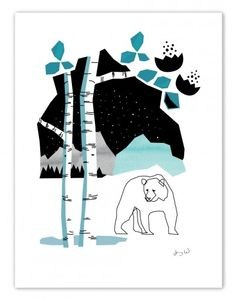 The bear 50x70 cm