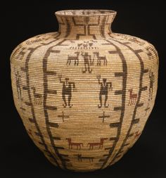 Monumental Apache Coiled Pictorial Storage Jar or Olla - Sotheby's