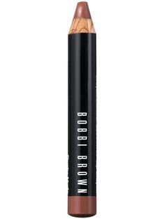 This creamy lipstick in pencil form is a sophisticated rosy nude color.