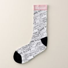 Special 20th Birthday Party Photo With Monogram Socks - diy individual customized design unique ideas