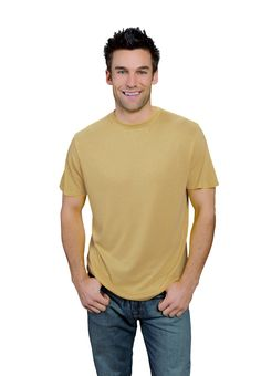 mustard ONNO bamboo and organic cotton t-shirt for men. The color mustard doesn't just belong on pretzels or hot dogs. This shirt reminds me of dijon, but wears like a nice vegas gold. Be golden but not blinding!