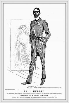 1903  Portrait of Paul César Helleu noted dry point artist,  by Charles Dana…