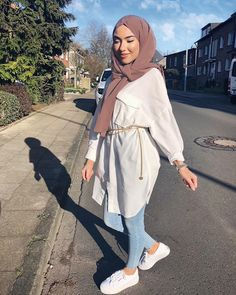 summer outfits with hijab best outfits - Muslim Fashion Hijab Fashion Summer, Modest Fashion Hijab, Modern Hijab Fashion, Street Hijab Fashion, Hijab Fashion Inspiration, Muslim Fashion, Mode Inspiration, Hijab Chic, Modest Outfits Muslim